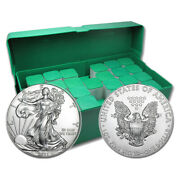 Monster Box Of 500 - 2021 1 Oz American Silver Eagle Bu Coin 25 Roll Tubes