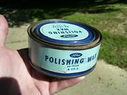 Very Old 1940s Original Ford Motor Co. Wax Auto Can Accessory Vintage Tool Nos