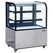 Polar Stainless Steel Deli Display With Curved Glass 270ltr - Cg841 Commercial