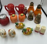 Lot Of 16 Vintage Ceramic Salt And Pepper Shakers Collectables Made In Japan