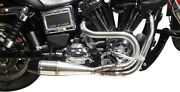 Sawicki 2 In 1 Brushed Ss Shorty Exhaust Pipe For 1991-2017 Harley Dyna Models