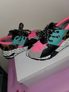 Pink And Turquoise Steve Madden Sneakers Womenandrsquos Size 8