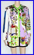 New Gianni Versace 1990-s Rare Coutre Floral Coat 40 - 6