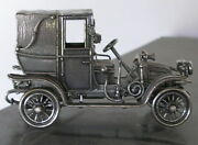 Sterling Silver Miniature Car 1911 Renault Marne Taxi 6.34 Oz.