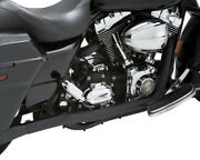 Dresser Duals Black Head Pipes Vance And Hines 46799 For 95-08 Harley Touring