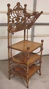 Antique Victorian Wakefield Rattan Company Stick And Ball Music Magazine Stand