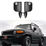 For Toyota Fj Cruiser 2007-2014 Black Rear View Side Door Mirror Cover Replace