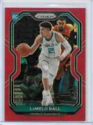 2020-21 Panini Red Prizm 278 Lamelo Ball Rc Rookie 202/299 Charlotte Hornets