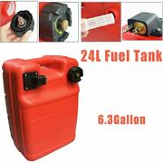 24l 6.3 Gallon Marine Outboard Fuel Tank Portable Large-capacity Fuel Tank Us