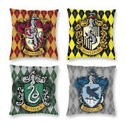 Harry Potter Hogwarts Houses Pillow Case Bed Sofa Throw Cushion Cover 16-26 In