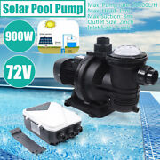 900w Clean Solar Swimming Pool Pump Brushless Dc Motor With Mppt Controller New