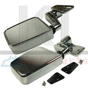 Chrome Pair Manual Side View Mirror Left/right For 1987-2002 Jeep Wrangler Truck
