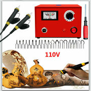 110v Multi-function Pyrography Machine Tool Kit Diy Wooden Gourd Crafts Tool