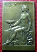 Art Nouveau Naked Woman Health ΥΓΙΕΙΑ 1929 Pharmaceutiques Medal By Henry Nocq