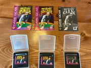 Poker Face Pauland039s Poker Solitaire Gin Lot + Manuals Game Gear