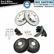 Front And Rear Ceramic Pad, Rotor, Shoe And Drum Kit For Honda Cr-v