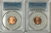1996 P And D Lincoln Cent Pcgs Ms68rd 2 Coin Set
