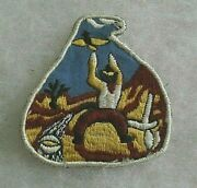 Wwii 49th Anti Aircraft Bde Theater Made Cowboy Patch Bill Wise's Private Coll
