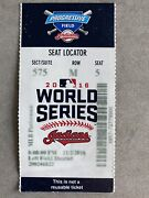 2016 Chicago Cubs Vs Cleveland Indians World Series Ticket Stub Game 7