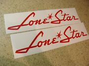 Lone Star Boat Vintage Decal Die-cut 2-pak Free Ship + Free Bass Fish Decal