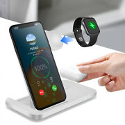 3in1 Qi Wireless Fast Charger Charging Dock Stand For Iphone 12 Pro 11 Xs Xr 8 X