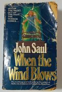 John Saul When The Wind Blows Rare First Printing