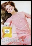 1974 No.19 Perfume Classic Bottle Color Photo And Woman Vintage Print Ad