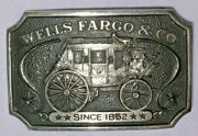 1973 Wells Fargo And Co Sterling Silver K238 Belt Buckle Carriage Wagon 135 Gms
