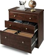 Devaise Lateral File Cabinet, 3 Drawer Wood Storage Cabinet With Hanging Size