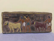Rare Egyptian Antiques Egypt Wall Stela Relief Carved Limestone Bc