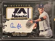 2021 Inception Aaron Judge Inception Majestic Logo Patch Auto 1/1 Yankees