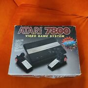 Atari 7800 Console Complete In Original Box Tested And Working