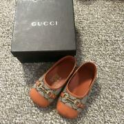 Baby Girl Shoes Gg Canvas Loafers Size 12.5cm With Box Used 333/me