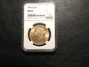 1906-s 20.00 Gold Liberty Gold Ngc60 Unc Harder To Find S Mint.