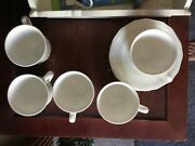 Mikasa Ultima+superstrong Fine China Nk Antique White 5 Cup And Saucer