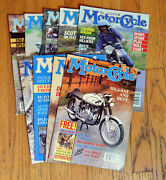 Classic Motorcycle Magazine 1991 Lot - 9 Out Of 12 Magazines