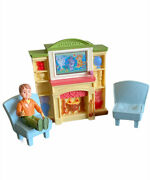 Fisher Price Loving Family J8998 Family Room Fireplace Tv With Sound
