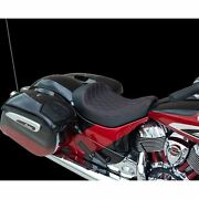 Drag Specialties Solo Seat - Double Diamond - Red - Chief 0810-2269