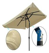 10 X 6.5t Patio Solar Led Lighted Outdoor Market Umbrellas With Crank Outdoor