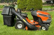 Husqvarna Tractor Mower 2018 46 Inch With Bagger - Very Good Condition