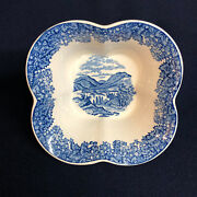 Wedgwood Romantic England Blue Queen's Ware Open Candy Dish Square