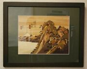 Hakone Yosegi Wood Inlay Hakone Mountain Framed Japanese Wooden Works Yoshihiro