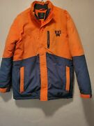 Nike Insulated Jacket. Youth Size Large. Orange With Gray Trim