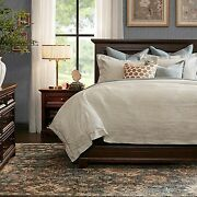 Harbor House King Bed In Brown Finish Hh115-0031