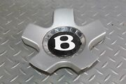 04-10 Continental Gt Center Cap Oem 19 5 Five Spoke Silver Lug Cover W/emblem