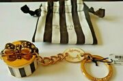 Henri Bendel New York Milliner Hat Box Keychain Keyfob With Drawstring Bag New