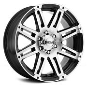 Ultra 226u Machine Wheels 16x8 10 6x114.3 71.8 Black Rims Set Of 4