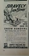 1958 Gravely Tractors Snow Blower New He's In Snow Removal Steering Sulky Ad