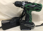 Hitachi Cordless Drill Ds14dvf3 14 Volt W/battery And Charger