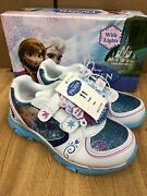 Disney Frozen Elsa-anna Athletic Running Shoe With Lights Size 11 Toddler